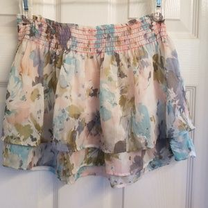 Girl's Large Abercrombie floral chiffon mini skirt